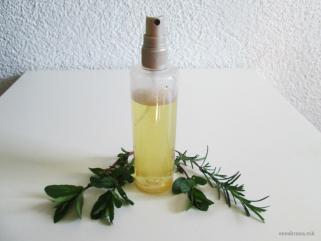 спреј за коса од нане и рузамарин 1