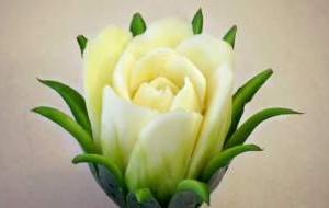 Декорација - ружа од тиквичка