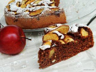 чоколадна торта со јаболка