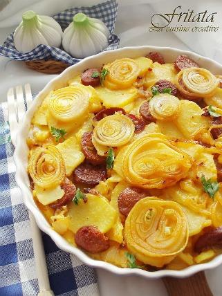 Печена фритата со зеленчук