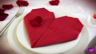 Техника за виткање на срце од салфетка