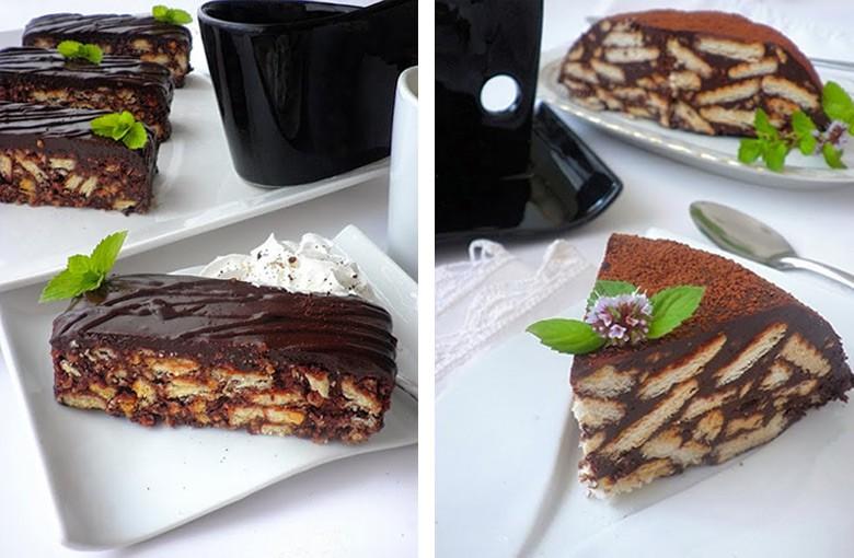 чоколадна торта со бисквити