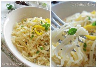 Шпагети со пармезан и лимон