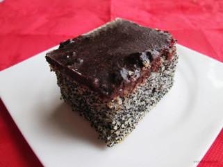 посна торта со афион и вишни