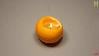 Миризлива свеќа од портокал за една минута.