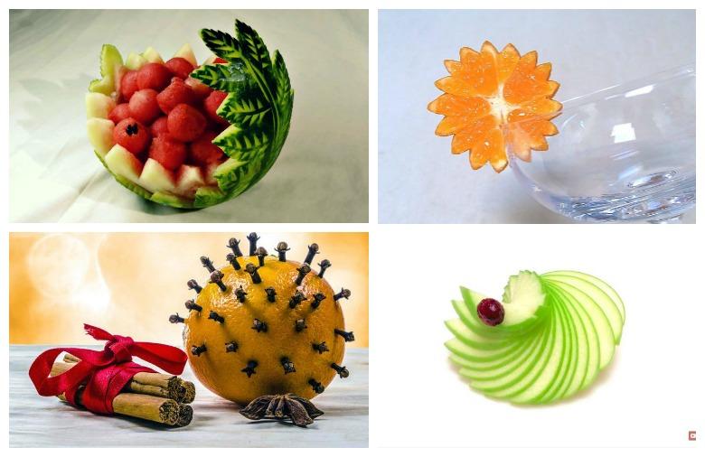 декорации од овошје