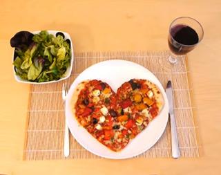 пица во форма на срце