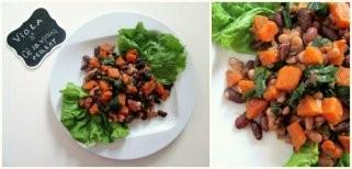 Viola рецепт: Сладок компир со спанаќ и грав 1