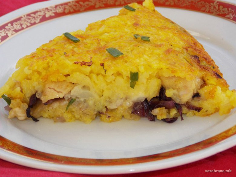 Солена торта од ориз и пилешко 2