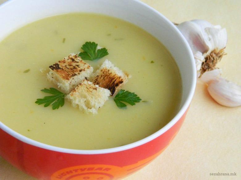 posna krem supa so luk 2