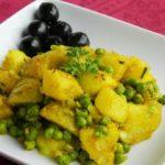 Зачинети компири со грашок