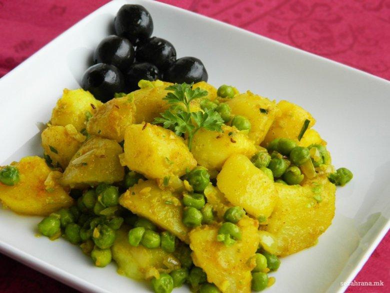 компири со грашок