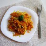посен прилог со зелка и моркови