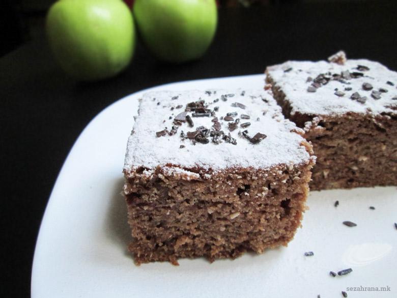 посна торта со јаболка