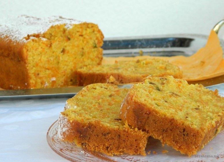 Сладок посен колач со моркови 2