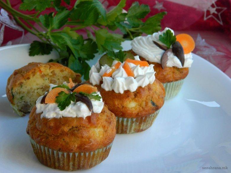 Солени мафини со мелено месо 2