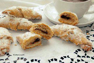 Бисквитни и слатки посни кифли 1