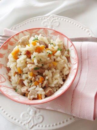 Оброк салата од ориз и варено месо 1