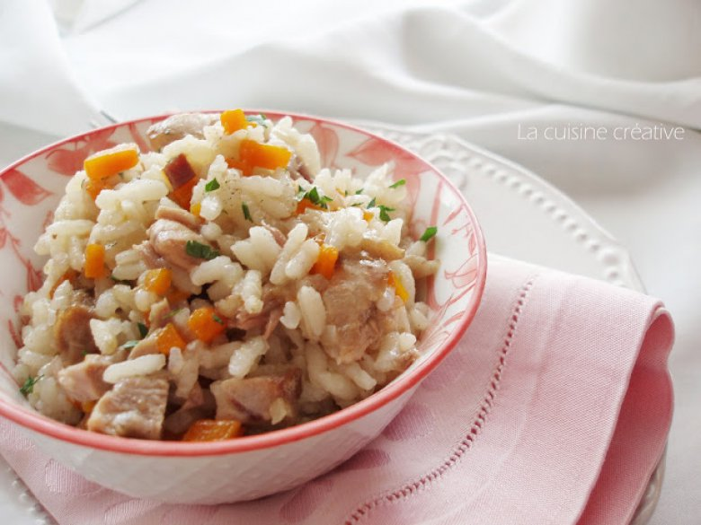 Оброк салата од ориз и варено месо 2