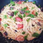 шпагети во сос од павлака