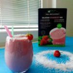 Протеинско смуди со јагоди и кокос 1