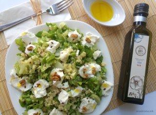 Свежа летна салата со ленено масло, просо и семиња 1