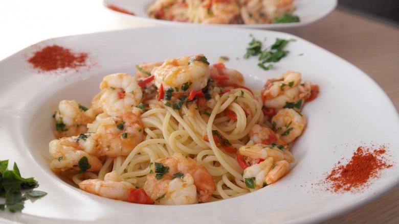 Лесен рецепт за шпагети со ракчиња 2
