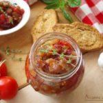 Пикантен сос од домати и модри патлиџани - зимница 1