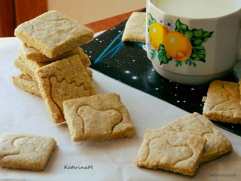 Рустични чајни бисквити од хељдино и спелтино брашно 2