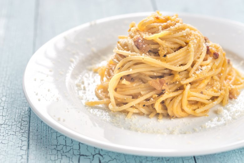 Оригинален класичен рецепт за карбонара шпагети  2