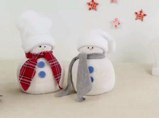 Лесно направете украс снешко 1
