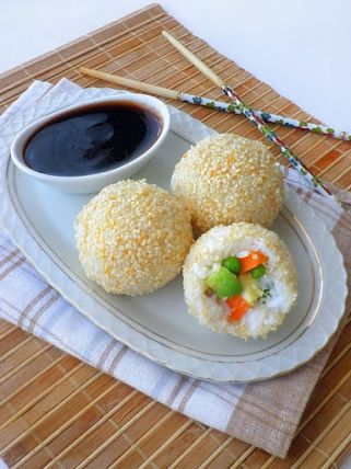 посни бомбици од ориз без масло