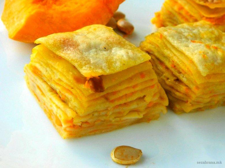 Посни солени палачинки со фил од тиква 2