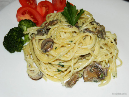 шпагети-во-сос-од-печурки