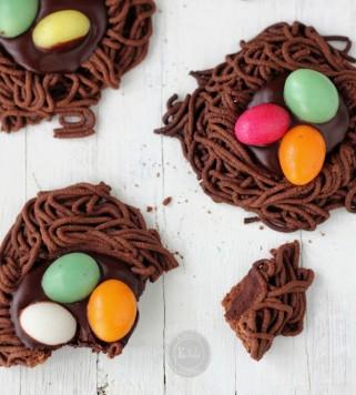 Чоколадни колачи - Велигденски гнезда
