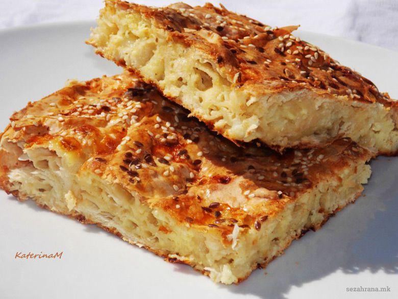 пита со готови кори и сирење