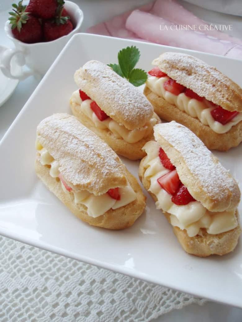 еклери со јагоди - рецепт