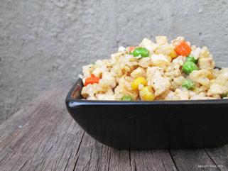 рижото со пилешко месо и зеленчук