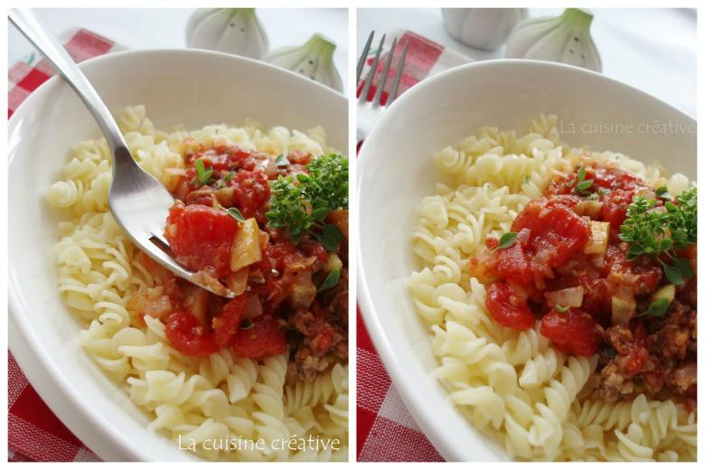 Тестенини со туна и сос од зеленчук