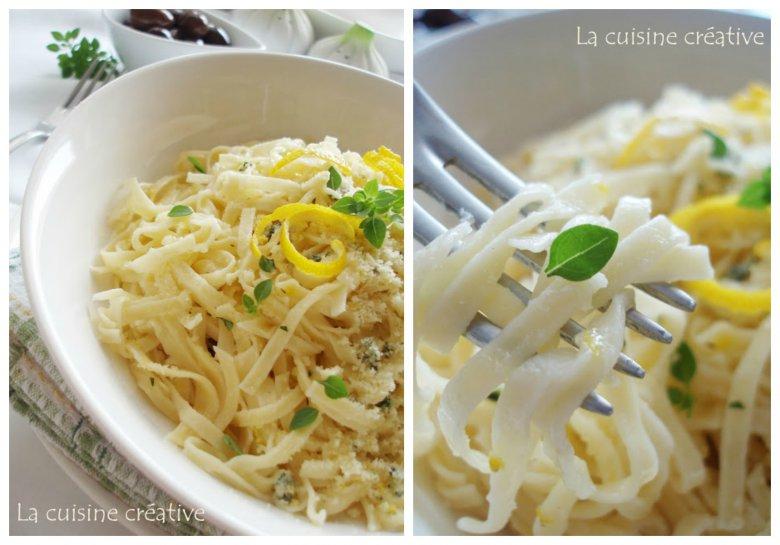 Шпагети во сос од пармезан и лимон