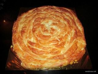 Мазник - традиционална тегната пита