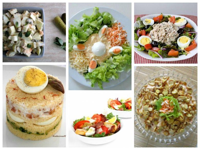 рецепти за салати со варени јајца