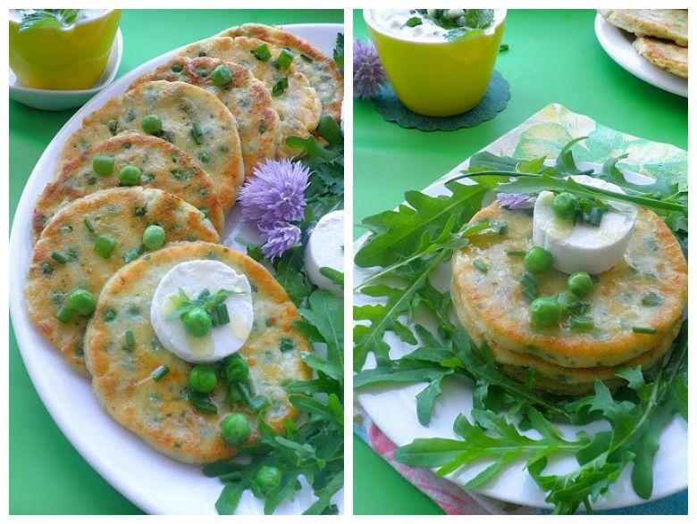 палачинки со урда и грашок
