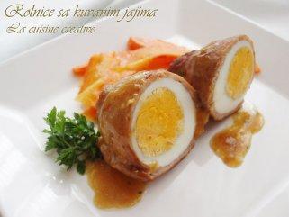 Ролнички од месо и варени јајца 1
