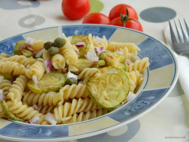 Тестенини со тиквички и туна 2