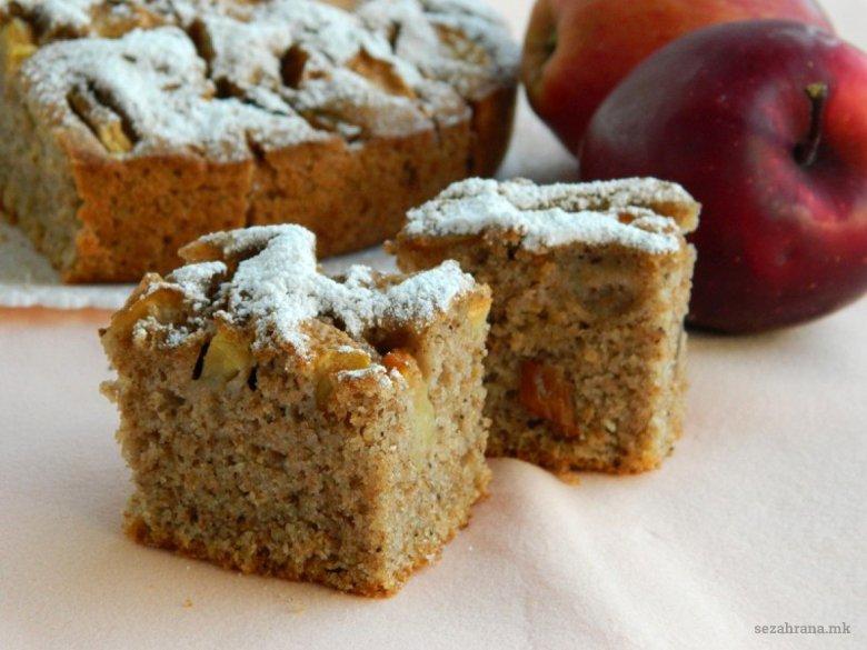 Интегрална посна торта со јаболка 2