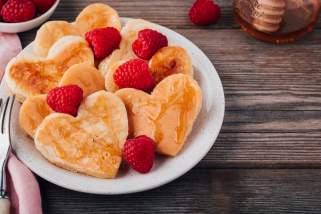 палачинки во форма на срце 1