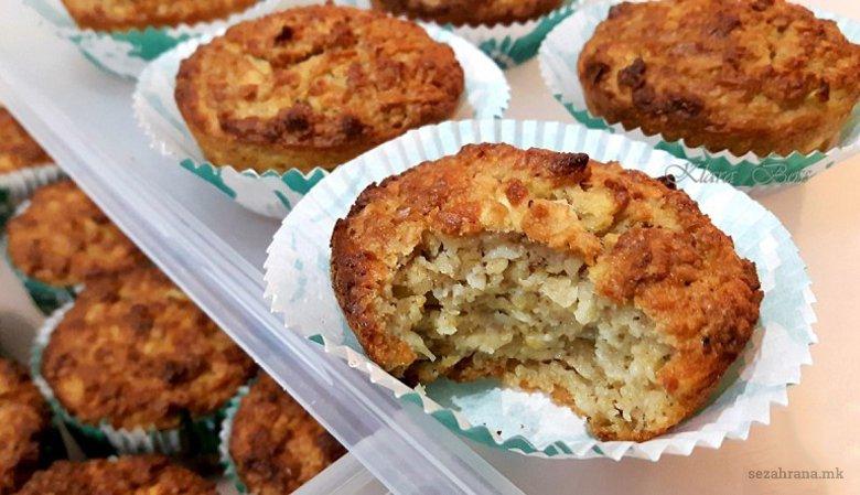 Овесни мафини со јаболка без брашно 2