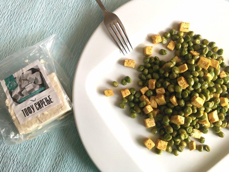 Здрав и брз оброк - зачинето тофу сирење со грашок 2