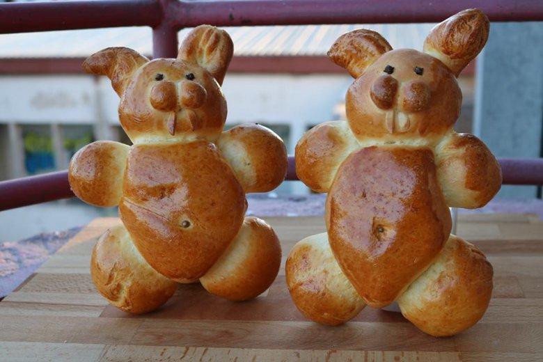 Велигденски зајачиња од тесто - празнични мини погачи 2